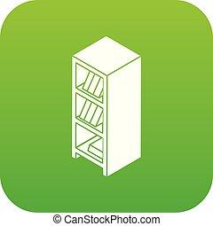 File wardrobe icon green vector