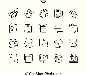 File Well-crafted Pixel Perfect Vector Thin Line Icons 30 2x Grid for Web Graphics and Apps. Simple Minimal Pictogram