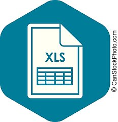 File XLS icon, simple style