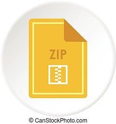 File ZIP icon circle