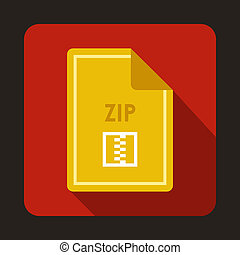 File ZIP icon, flat style