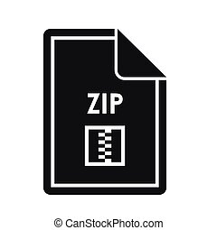 File ZIP icon, simple style