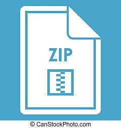 File ZIP icon white
