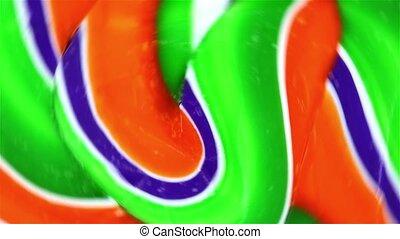 filer, fin, vert, lollypop, vue