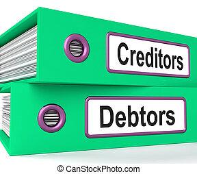 filer, udlåning, låne, debitorer, kreditorer, show