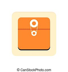 Files app button on a white background, Vector illustration