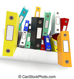 Files Falling Shows Disorganized And Chaotic Office - Files...