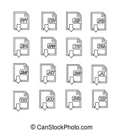 Files Format Icon Set