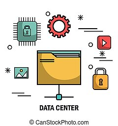 files security data center server isolated