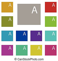 Files, text multi color icon. Simple thin line, outline vector of Text editor icons for UI and UX, website or mobile application
