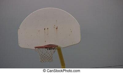 filet, basket-ball, closeup, bourdonnez dehors