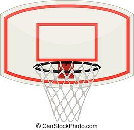 filet basket-ball, et, cerceau