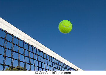 filet, boule tennis