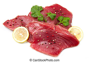 filet of fresh tuna
