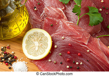 filet of fresh tuna
