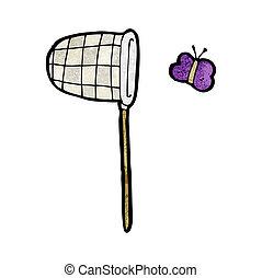 filet papillon, dessin animé