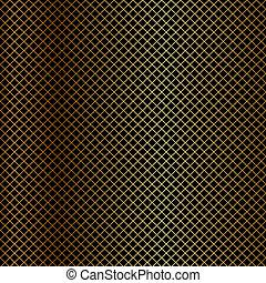 filet, vecteur, arrière-plan noir, or