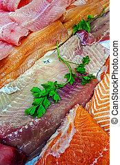 filetes, peixe, 5, venda