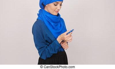 fileur, femme, jouet, jeune, musulman