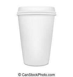 filiżanka do kawy, odizolowany