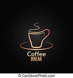 filiżanka do kawy, projektować, tło, etykieta