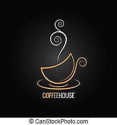 filiżanka do kawy, projektować, tło, ozdobny