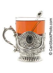 filiżanka herbaty, do góry szczelnie