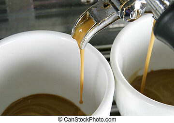 filiżanki, espresso, dwa