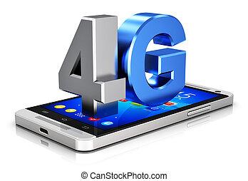 fili, 4g, concetto, tecnologia, lte