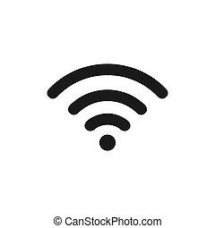 fili, bianco, icon., fondo., segno, eps, 10, internet, simbolo., vettore, rete, wifi, isolato