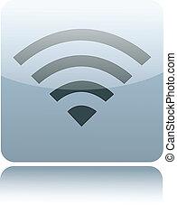 fili, grigio, wifi, lucido, o