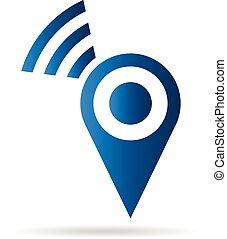 fili, logotipo, collegamento, posto