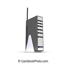 fili, modem, 3d, instradatore