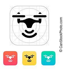fili, quadcopter, icon.