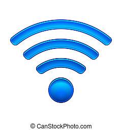 fili, rete, simbolo, wifi, icona