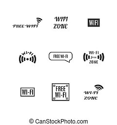 fili, set, icone, illustration., vettore
