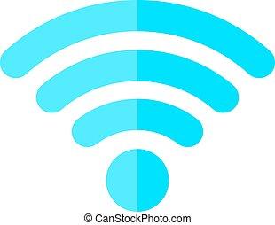 fili, simbolo, vettore, internet