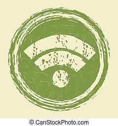 fili, simbolo, wifi, rete