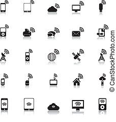 fili, vettore, hotspot, icone