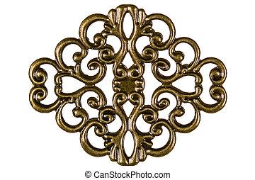 filigrana, elemento decorativo, per, lavoro manuale,...