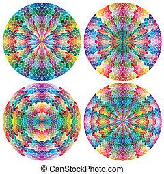 Filigree color wheels