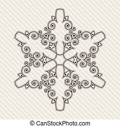 Filigree Flower Henna Pattern in Contrasting Colors