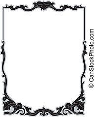 Filigree Frame - Illustration of a Frame with a Filigree...