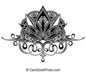 Lotus flower om symbol and mantra om mani padme hum filigree lotus flower flower tattoo symbol mightylinksfo