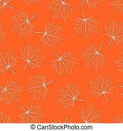 Filigree Maple Leaf Seamless
