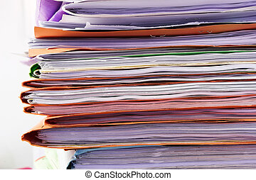 Filing cabinet #5 - Heap of coloured files
