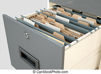 Filing Cabinet Drawer Open Generic