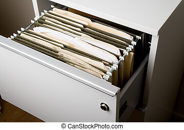 Filing Cabinet close up shot