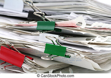 filing document, concept of paperwork