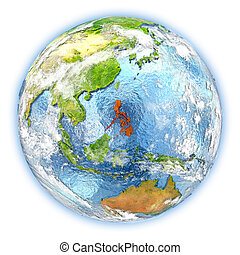 filipinas, aislado, tierra